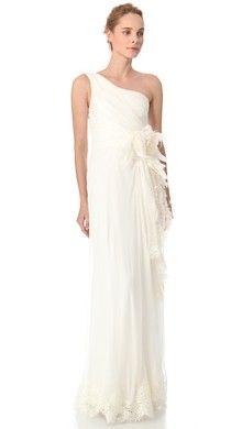 Alberta Ferretti Collection One Shoulder Cocktail Dress | SHOPBOP