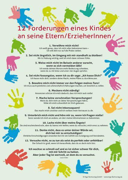 ILL e.V. 12 Forderungen eines Kindes