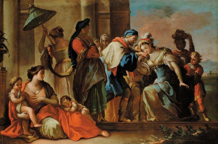 Francesco De Mura (1696-1782) Scena biblica