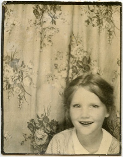 ** Vintage Photo Booth Picture ** Love the sparkly eyes and the genuine smile of this cutie-pie!: