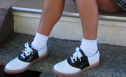 Saddle shoes and bobby socks!