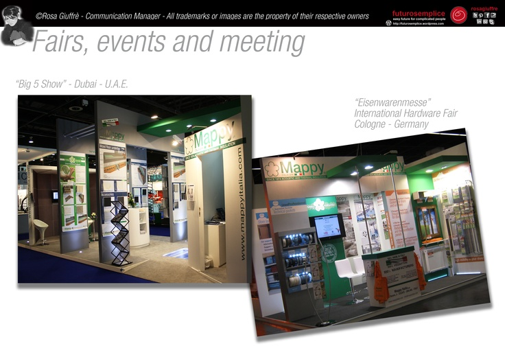 Fairs, events, meeting