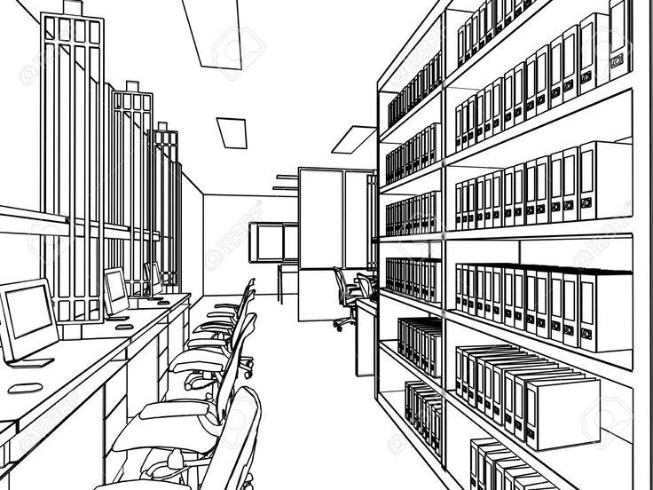 Skizze Zeichnung Perspektive Eines Zwischenraumbro Umreissen Lizenzfreie Fotos Bilder Und Stock Fotografie Image
