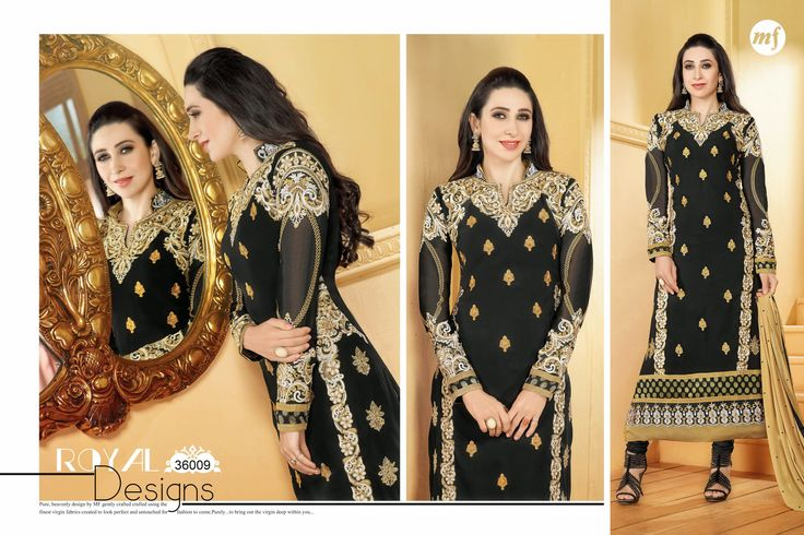 TOP- GEORGETTEEE BOTTOM- SANTOON DUPATTA- NAZNIN TOTAL 12 PIECES CATALOG