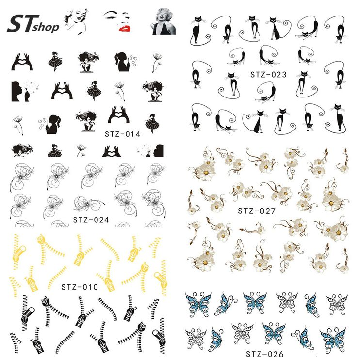 Buy 1 sheet Fashion Style Watermark Nail Decals Nail Art Water Transfer Stickers Polish Manicure Wraps Decor Nail Tools STZ001-031 at JacLauren.com