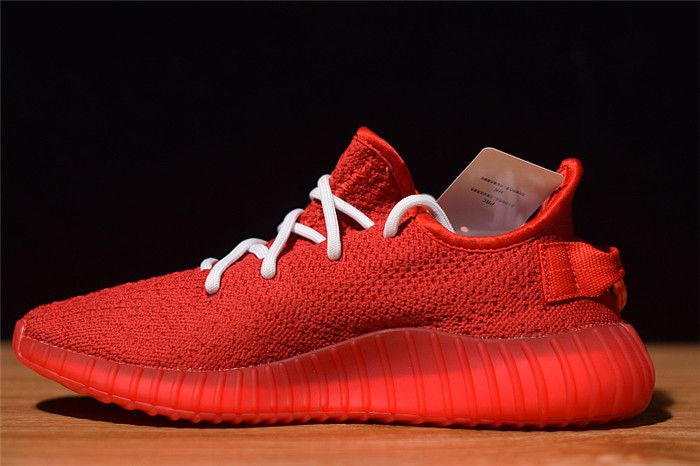 cdaf93a28997c Top quality Supreme x adidas Yeezy Boost 350 V2 Red White F36923 Hot Sale