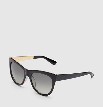 Gucci - occhiali da sole occhio di gatto flora in seta 391311J13501160