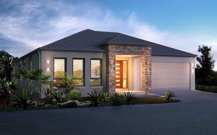 Metricon home designs the aspire traditional facade for Home designs metricon