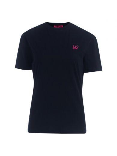 MCQ BY ALEXANDER MCQUEEN T-Shirt Mcq Alexander Mcqueen Swallow In Cotone Nero. #mcqbyalexandermcqueen #cloth #https: