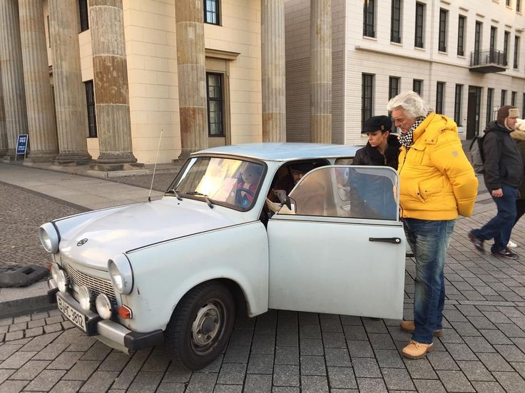 Either the people standing here are exceptionally large or that's an East #German #Trabant #eastgermany