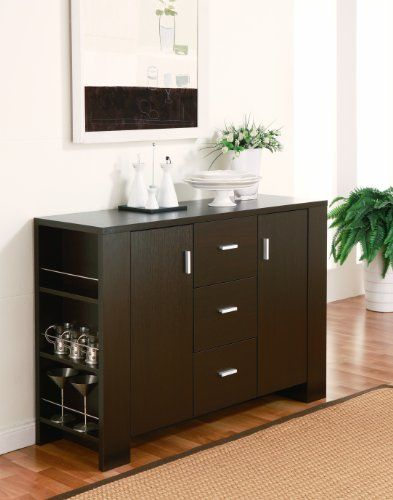 Attrayant Furniture Of America Clayton Cappuccino Finish Dining Buffet