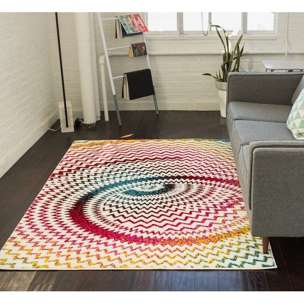 Brooksville Power Loom Red Blue Yellow Rug Well Woven Area Rugs Modern Area Rugs