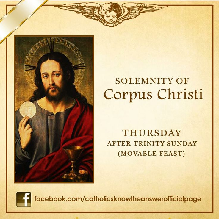 02 JUNE 2013 - THE MOST HOLY BODY AND BLOOD OF CHRIST