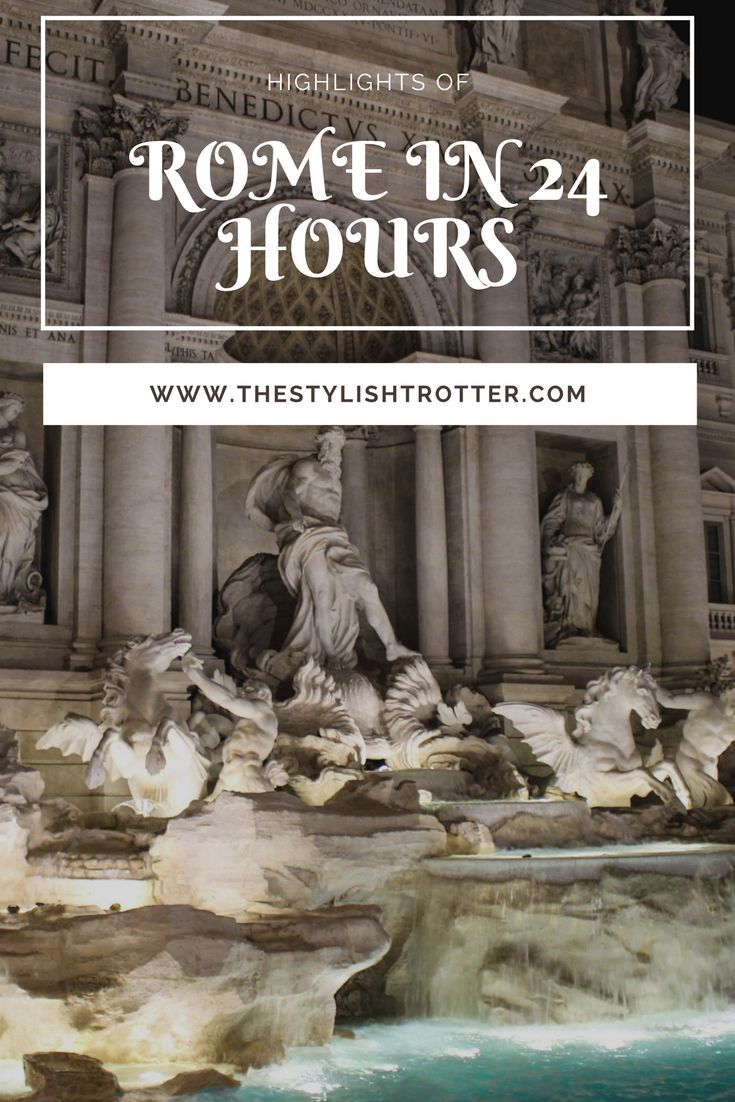 Though I spent 72 hours in Rome, the city's highlights can be explored in 1 day. People who are backpacking through Europe or simply stopping over in Rome en route another city can still appreciate the wonders of Rome in a short period of time. Rome is a beautiful and cultural city filled with beautiful architecture and delicious food (think...