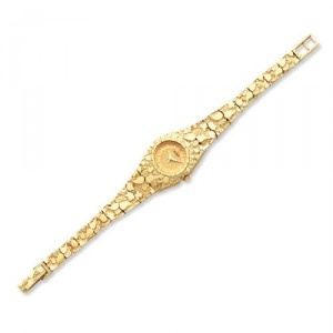 Seiko Watches - Buy Seiko Watches Online at SalmaWatches.com! 14K Ladies Circular Champagne 22mm Dial Solid Nugget Watch $2,098.00