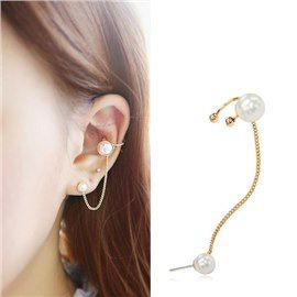 New Fashion Pearl  with S925 Needle Women Ear Cuff