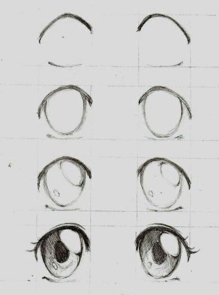Learn To Draw Anime Eyes Black And White Pencil Sketch Step By Step Tutorial In 2020 Anime Eye Drawing Eye Drawing Tutorials How To Draw Anime Eyes