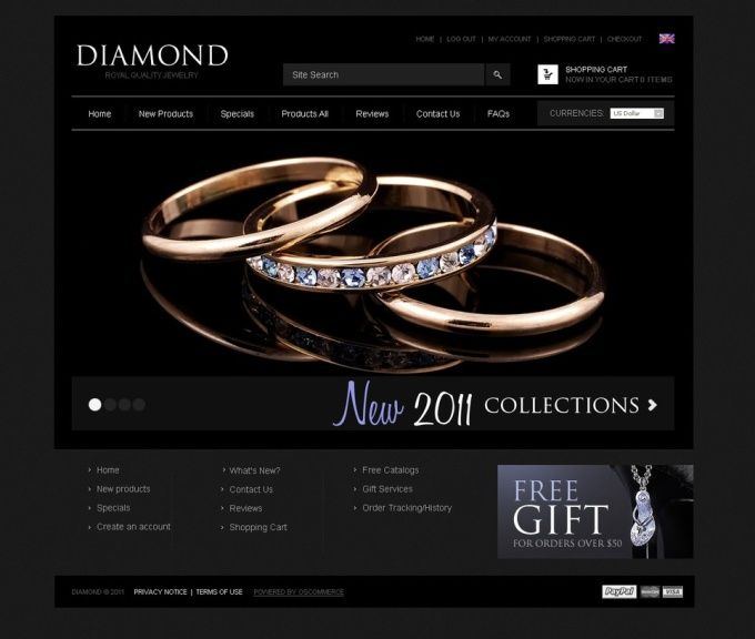 any Jewelry Store Ecommerce Online Shop Website