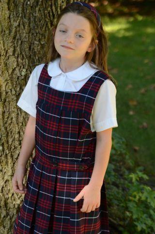 NWT Plaid Catholic Flynn and O'Hara School Dress or Jumper