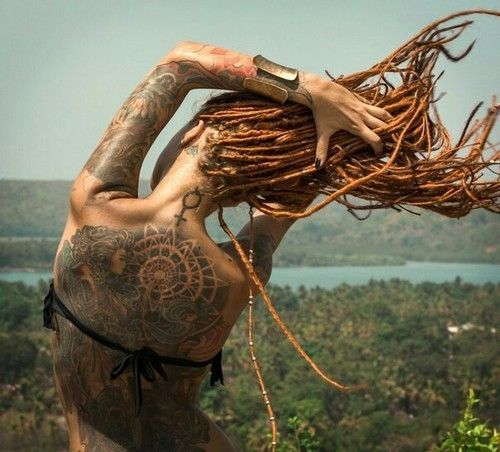 tattoo, dreads, and dreadlocks image
