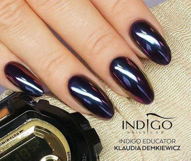 MetalManix Infinity by Indigo Educator Klaudia Demkiewicz, Łódź #nails #nail #indigo #metalmanix #chrome #metalnails #mirror #metal #winter