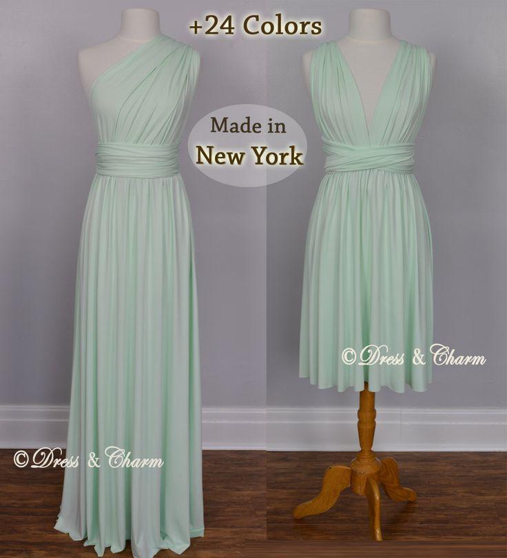 Mint infinity dress, Bridesmaid dress, convertible maxi dress, short multi way dress, party dress, cocktail dress, wrap dress bridesmaid by justDressAndCharm on Etsy https://www.etsy.com/listing/274452120/mint-infinity-dress-bridesmaid-dress