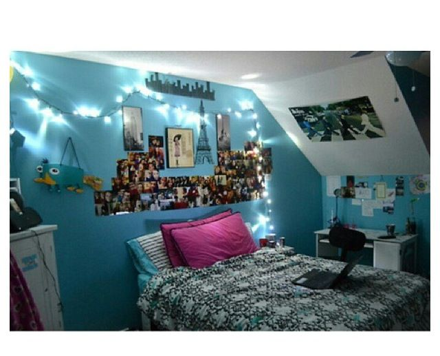 Tumblr teen rooms for girls bedroom ideas pinterest for Blue teenage bedroom ideas