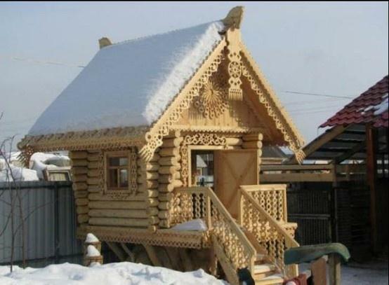 Les 59 meilleures images du tableau maisons russes isba for Architecture russe