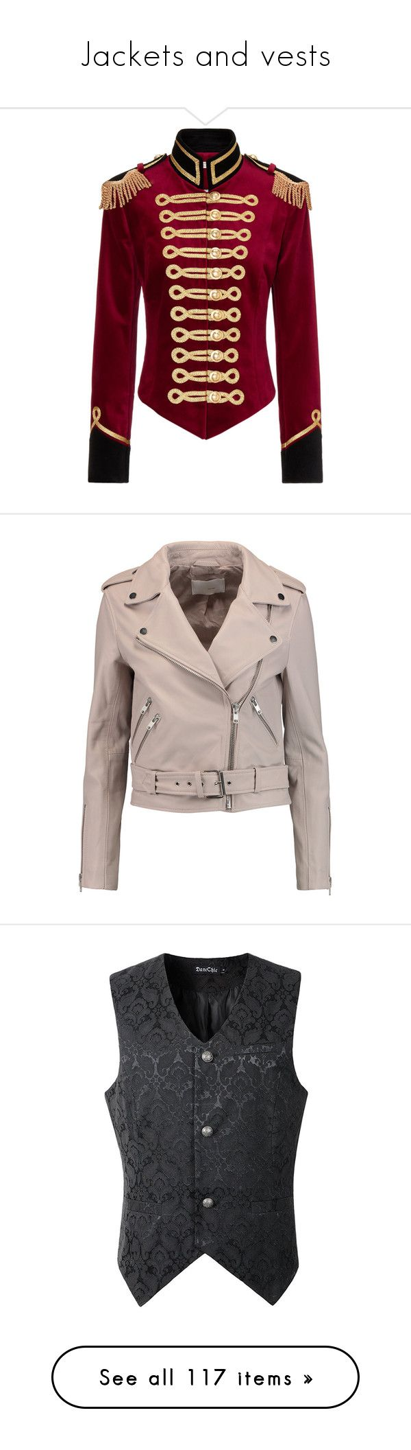 """Jackets and vests"" by felicitywest on Polyvore featuring outerwear, jackets, coats, tops, military field jacket, military inspired jacket, vintage military jacket, vintage jackets, retro jackets and blush"