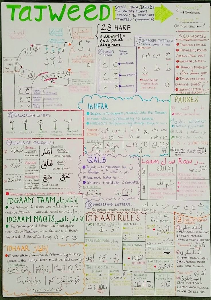Poster On Almost Every Tajweed Rule