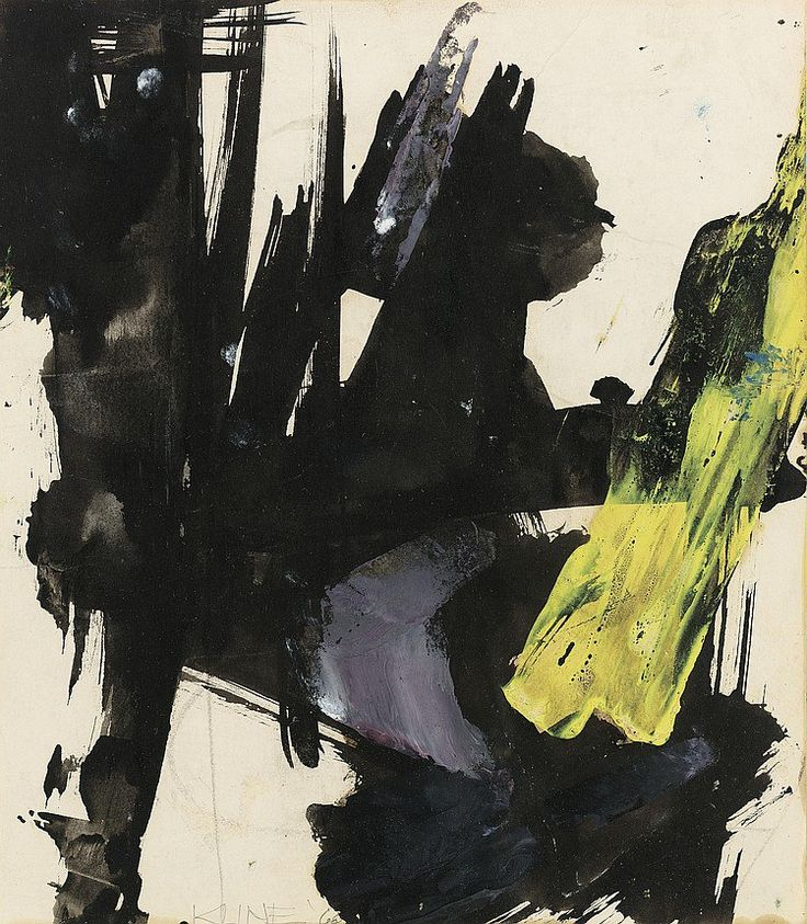 "Франц Клайн (англ. Franz Kline). ""Абстракционизм - abstract art"" в социальных сетях - http://www.1abstractart.com/---abstract-art"