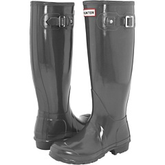 Love this color (Graphite) because they would go with pretty much everything.  Hunter Original Gloss wellies, $125.00 at Zappos.  I also like this particular style in the Pillar Box Red.