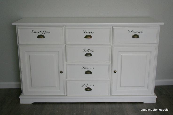 17 beste idee n over opgeknapte dressoirs op pinterest slaapkamer meubilair makeover - Oude meubilair dressoir ...