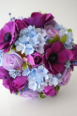 DK Designs: Colorful Bridal Bouquet is a Nice Contrast to All White Bridesmaid Bouquets