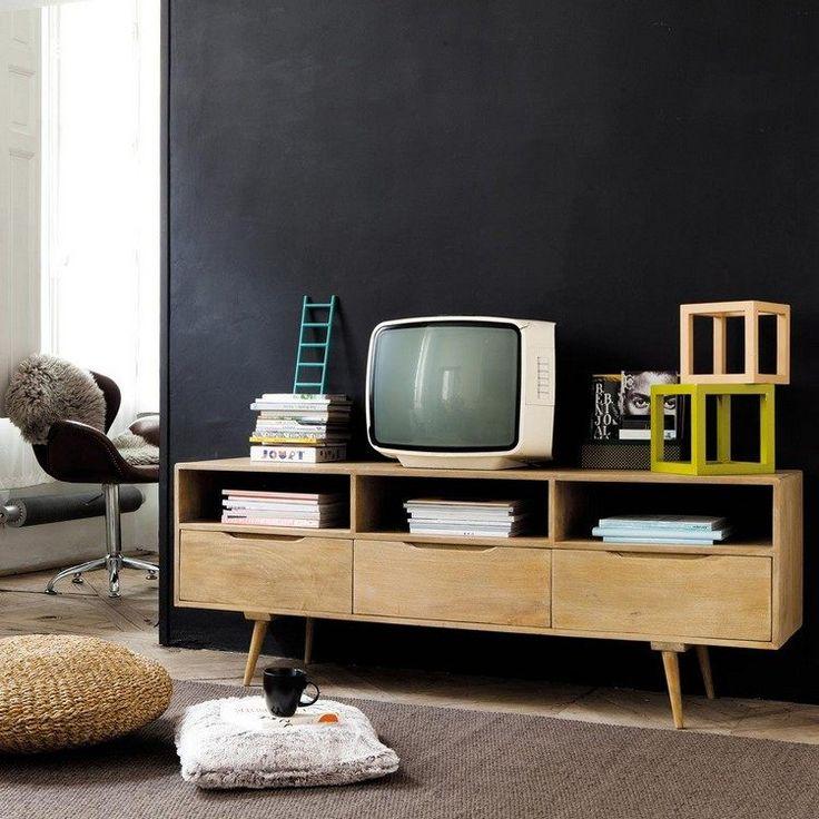 25+ best ideas about meuble tv bois clair on pinterest | bernique ... - Meubles Bois Clair Design