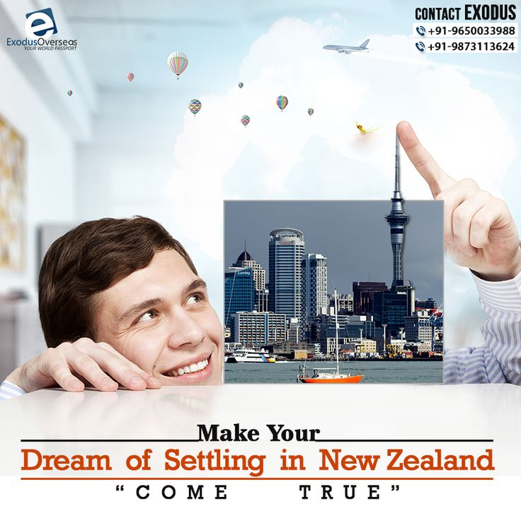 Has it always been your dream to settle in New Zealand with your family? Now, with the availability of various options for visa, you can make your dream come true. Contact Exodus Overseas right away. Contact Mr. Pankaj Malhotra (Ex-Visa Officer) Ph: +91-9650033988. For any visa other than Student contact Ms. Rajni Garg (Licensed immigration advisor) at +91-9873113624. #exodusoverseas #visaapplication #licensed #immigration #advisor #expert #consultant #newzealand