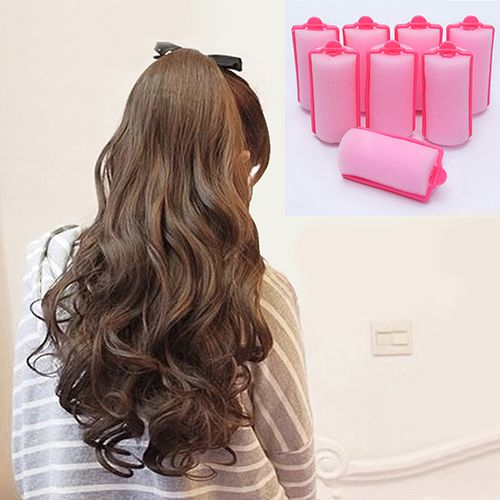 12 Pcs/Bag Magic Sponge Foam Cushion Hair Styling Rollers Curlers Twist Tool In Stock Fast Ship