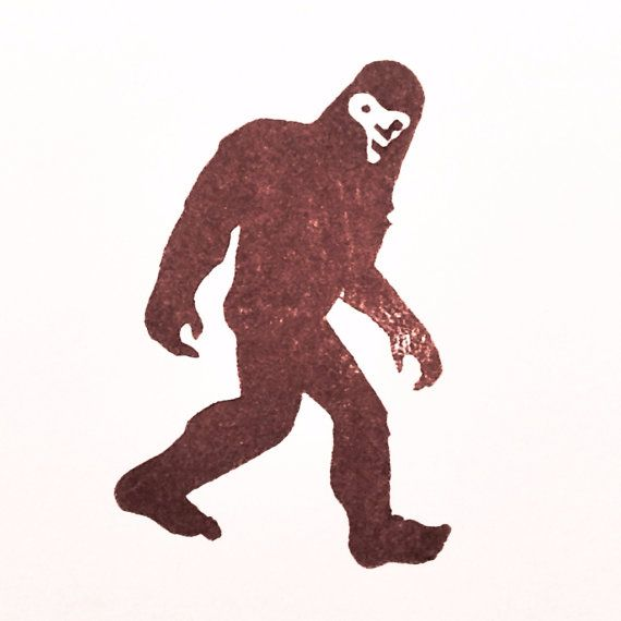 Bigfoot Rubber Stamp.  Can also be Yeti! from Jackbear Stamps etsy shop