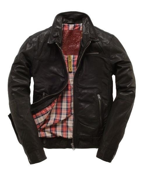 Superdry Muirs Black Leather Jacket