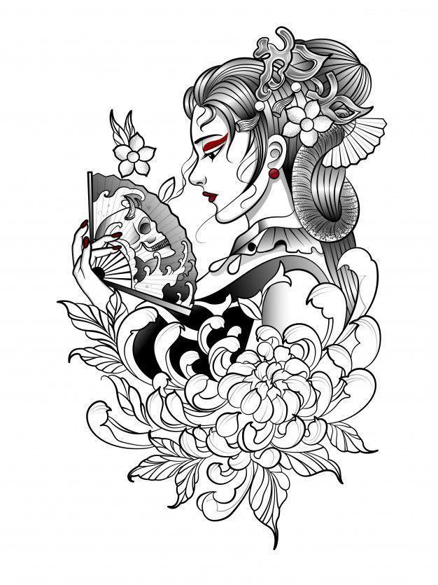 Nose Piercings Geisha Tattoo Design Kimonos Geisha Tattoo Design Kimonos Geisha Tattoo Chest Geish In 2020 Geisha Tattoo Design Japanese Tattoo Geisha Tattoo