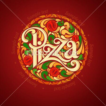 Modelo de design de pizza — Ilustração de Stock #38989133