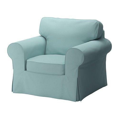 EKTORP Armchair cover - Isefall light turquoise - IKEA