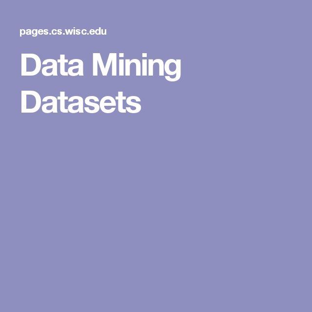 Data Mining Datasets