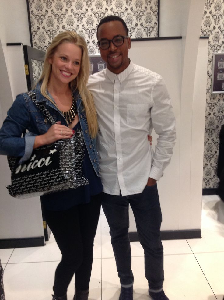 Hayley Owen & Maps Maponyane looking fab at the #NicciWinter14 launch party