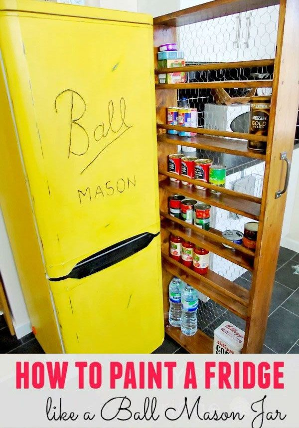 What a clever idea from Medina Grillo. She painted her refrigerator so it now looks like a yellow Ball mason jar. It seems an old refrigerator was the perfect canvas ... Read More