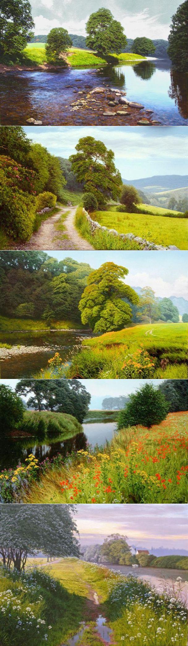 Пейзаж Картины маслом британского художника Майкла Джеймс Смит