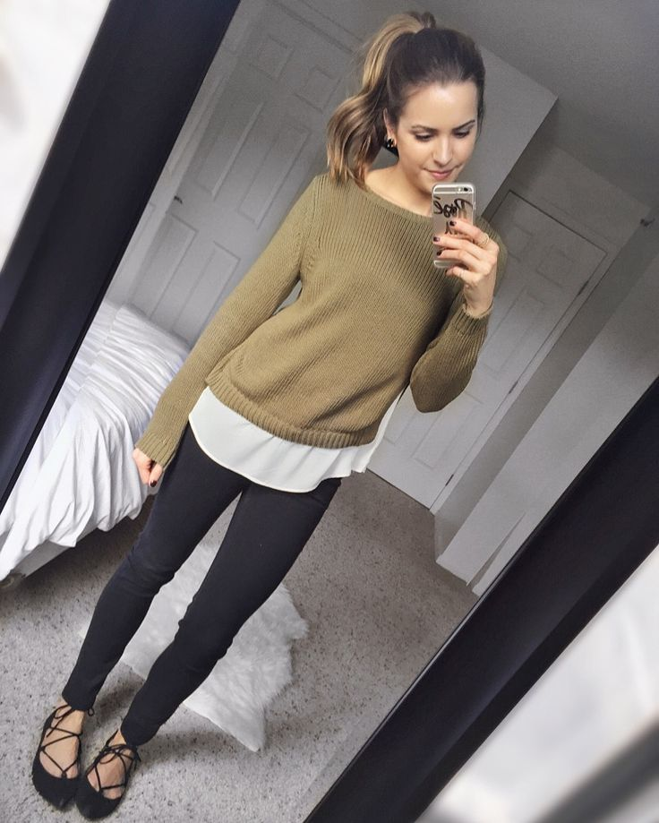 LOFT Two-in-One Sweater | The Styled Press - A Personal Style, Beauty and Lifestyle Blog