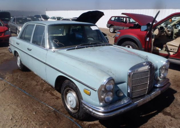 1969 Mercedes-Benz 280S - This powder blue '69 Mercedes-Benz 280S was generously donated to Cars for Homes in Canon City, Colorado. It was auctioned off, generating funds for Habitat for Humanity of Fremont County to build homes locally for families in need.