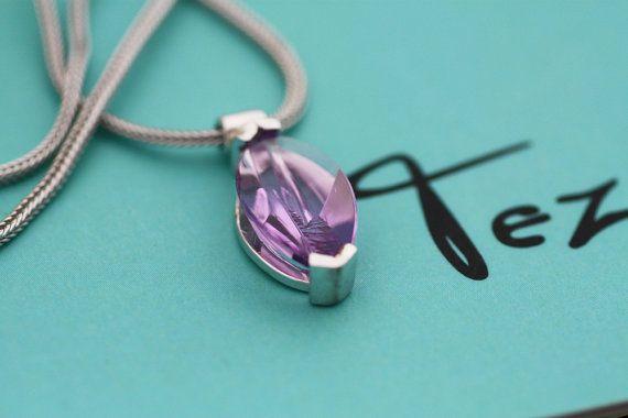 Amethyst pendant / Amethyst Oval cut sterling by PetrosJewels