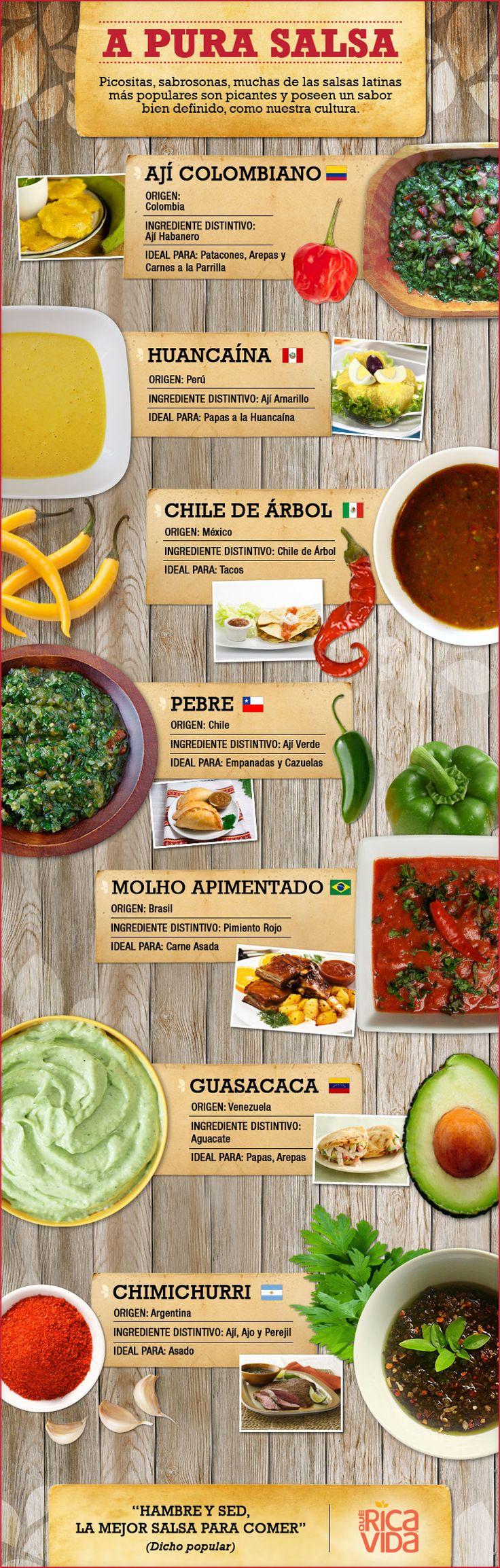Salsa Picante – 7 Salsas Picantes Latinas | QueRicaVida.com (In Spanish)